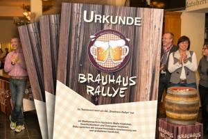 Urkunde der Brauhaus-Rallye