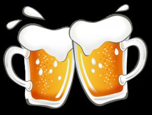 gezeichnete Bierkrüge