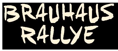 Brauhaus Rallye Schriftzug